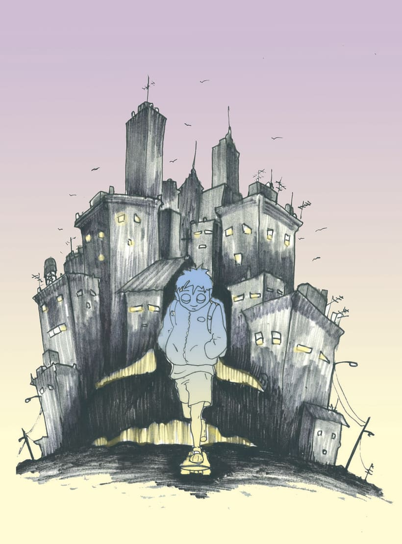 Ilustraciones para historietas y cuentos. 10