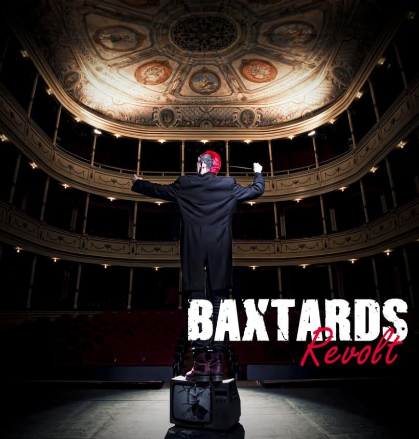 Promoción disco BaXtards, maquetación disco Revolt  4