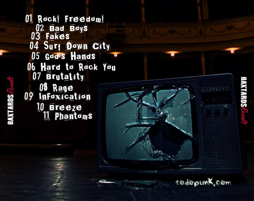 Promoción disco BaXtards, maquetación disco Revolt  3
