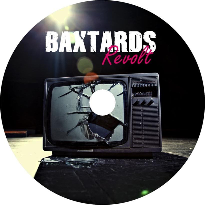 Promoción disco BaXtards, maquetación disco Revolt  2