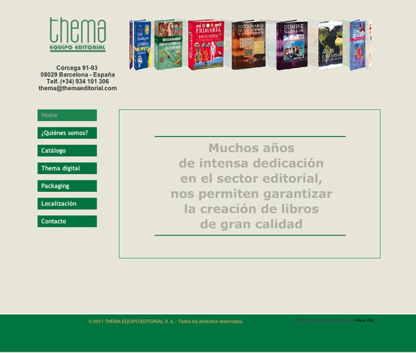 Site Web THEMA EQUIPO EDITORIAL 1