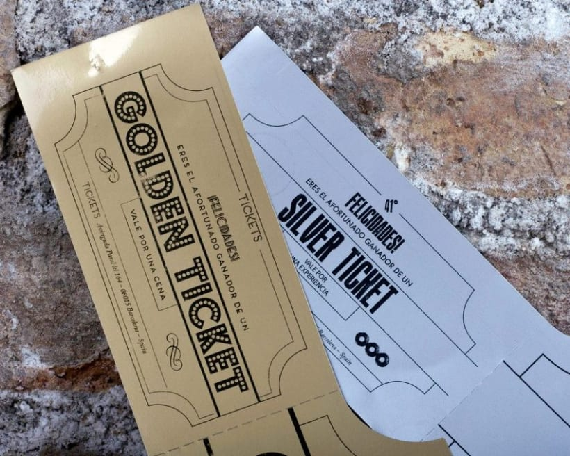Golden & Silver Tickets - TICKETS Bar 2