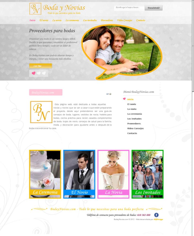 Portal web Bodaynovias.com 1
