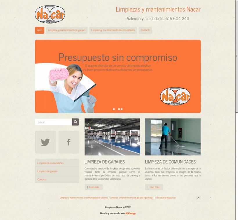 Web corporativa para Limpiezas Nacar 1