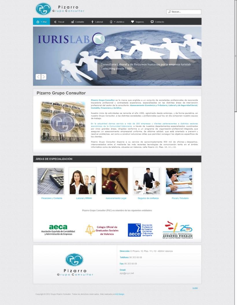 Web empresarial Pizarro Grupo Consultor 1