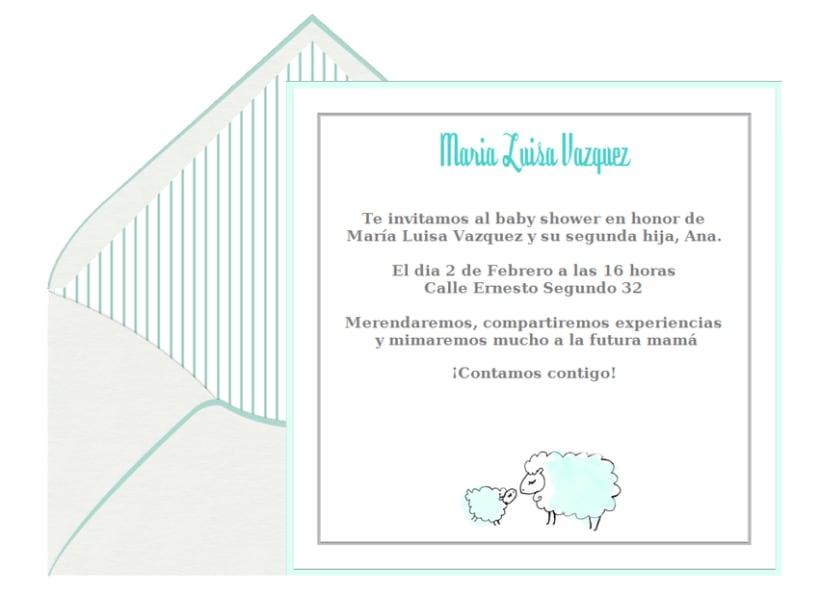 Invitaciones de Baby Shower 7