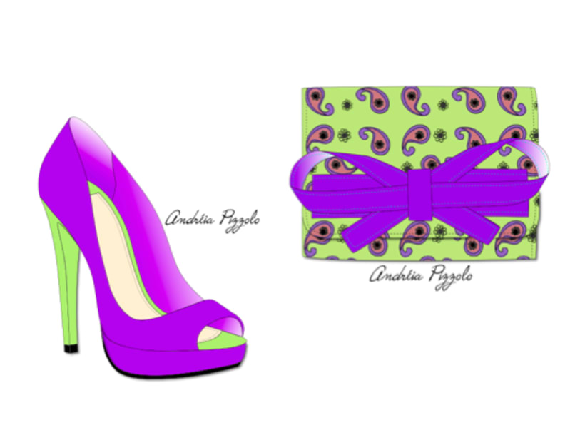 Drawings - shoes and accessories 8