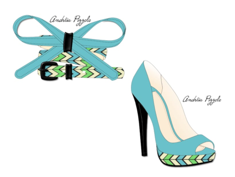 Drawings - shoes and accessories 6