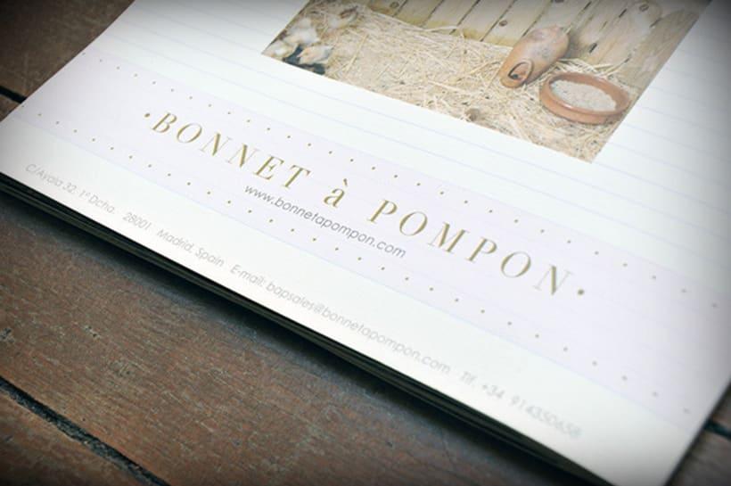 """Bonnet à Pompon"" Maquetación de Catálogo 10"