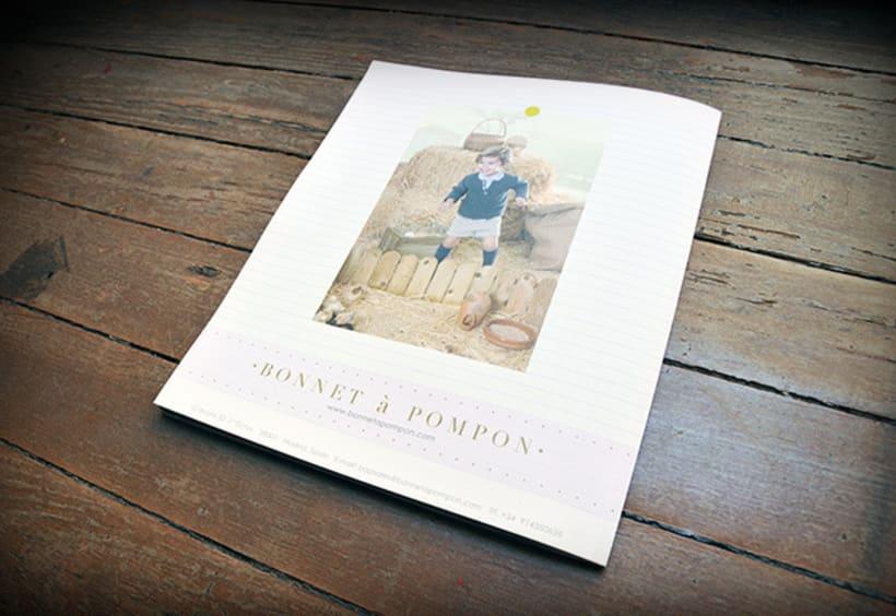 """Bonnet à Pompon"" Maquetación de Catálogo 9"
