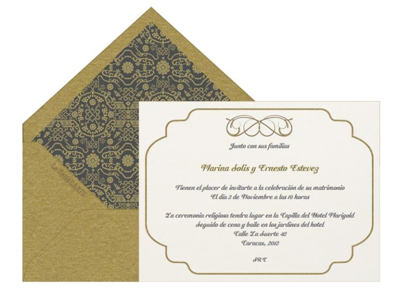 Invitaciones de boda domestika - Tarjeta de boda ...