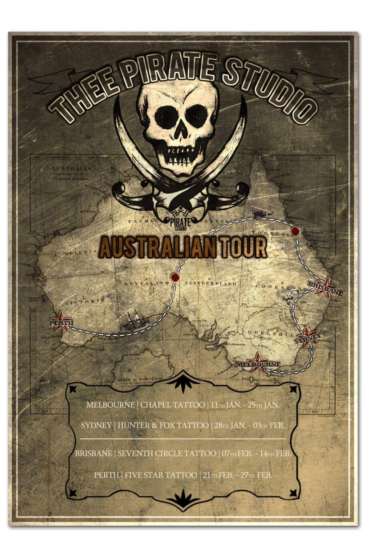 THEE PIRATE STUDIO | tour poster 1