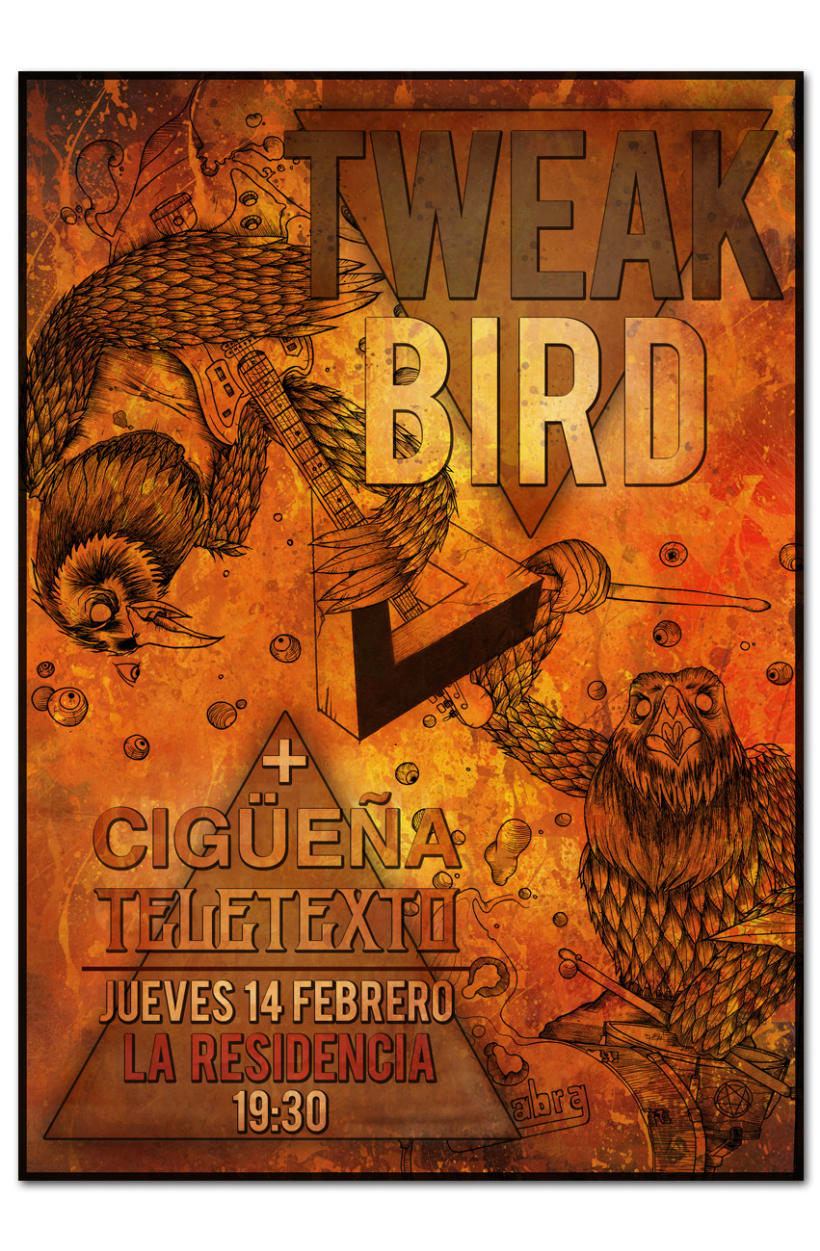 TWEAK BIRD + CIGÜEÑA + TELETEXTO | poster 1