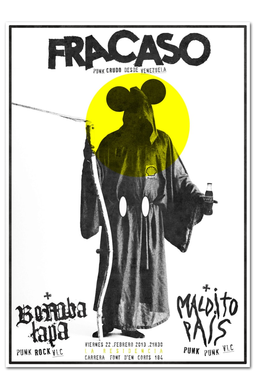 FRACASO + MALDITO PAIS + BOMBA LAPA   poster 1