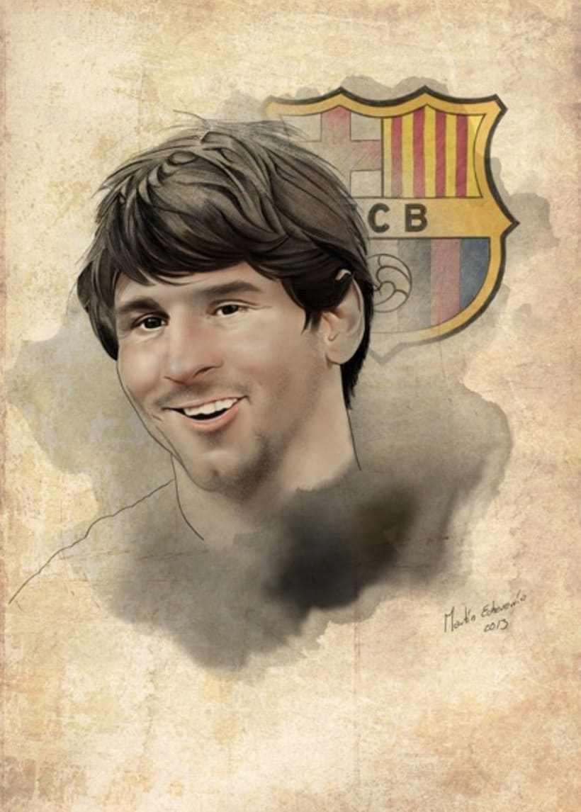 Lionel Messi Portrait. F.C. Barcelona. 3