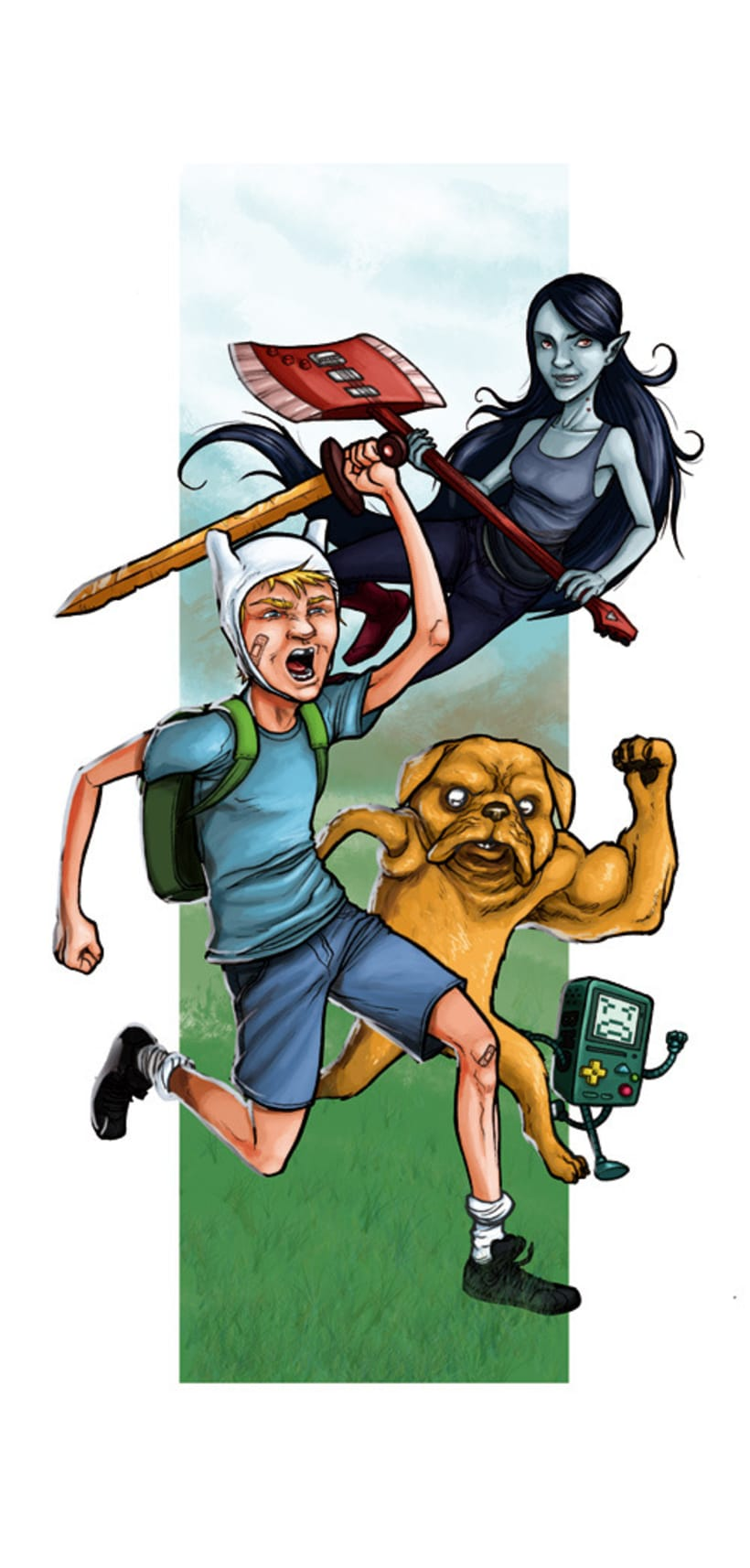 Adventure Time, 2 coloreados 1