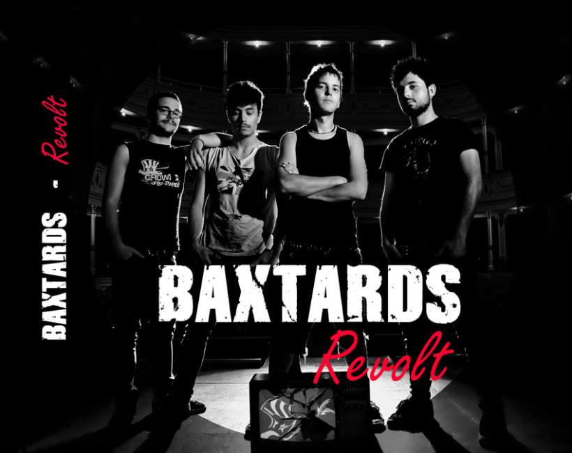 Promoción disco BaXtards, maquetación disco Revolt  1