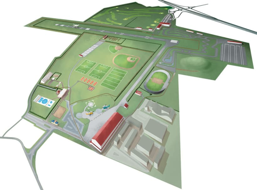 Mapa centro de deportes. 1