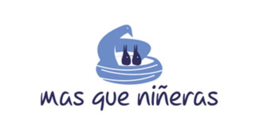 Logotipo para servicio de niñeras. 1