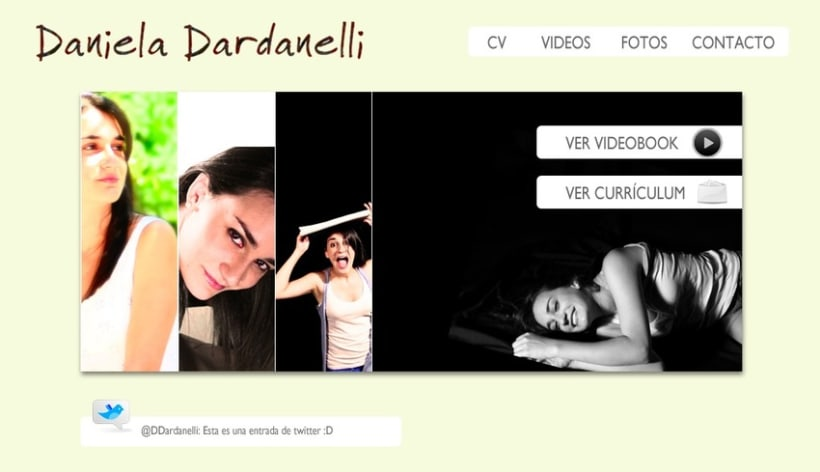 Website de la actriz Daniela Dardanelli 2