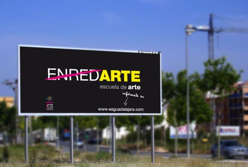 Campaña publicitaria Escuela de Arte de Guadalajara 3