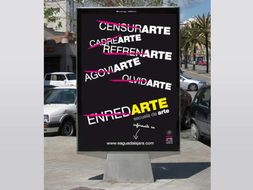 Campaña publicitaria Escuela de Arte de Guadalajara 2