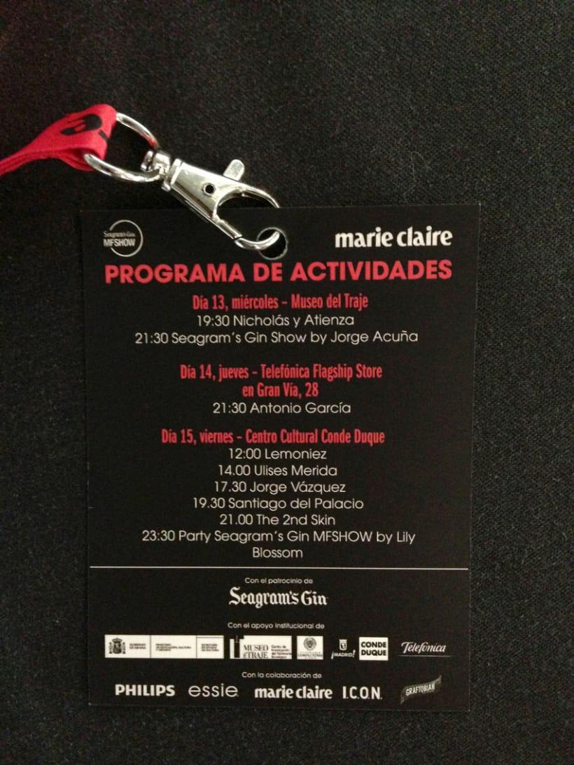 Marie Claire en Madrid Fashion Show 6