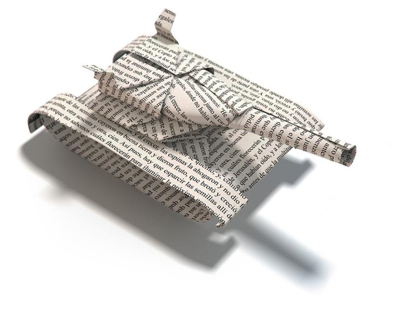 Origami tanque 1