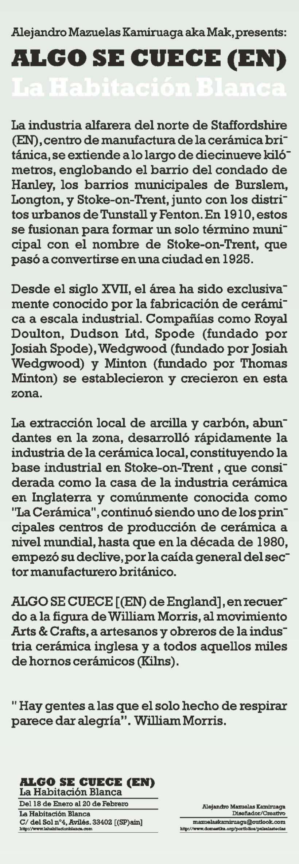 """""""Expo"""" ALGO SE CUECE (EN) La Habitación blanca 1"""