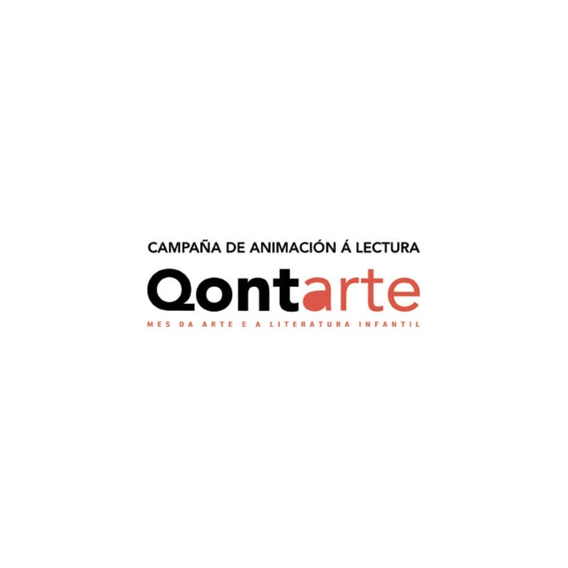 Qontarte. Logotipo y cartelería. 2