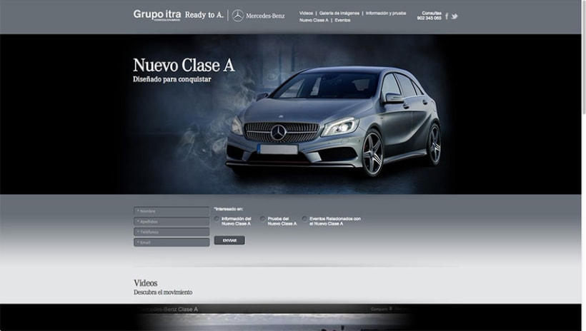 Landing Page - Nuevo Clase A - Mercedes Benz 1