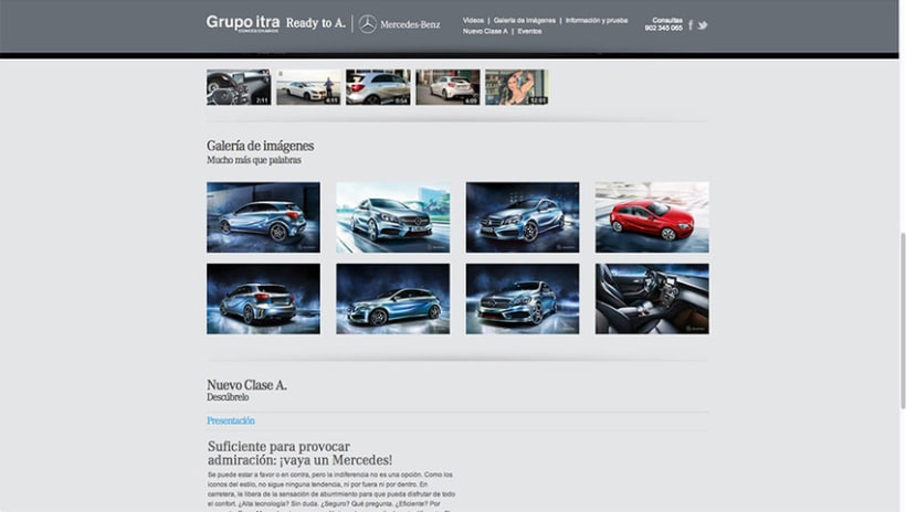 Landing Page - Nuevo Clase A - Mercedes Benz 2