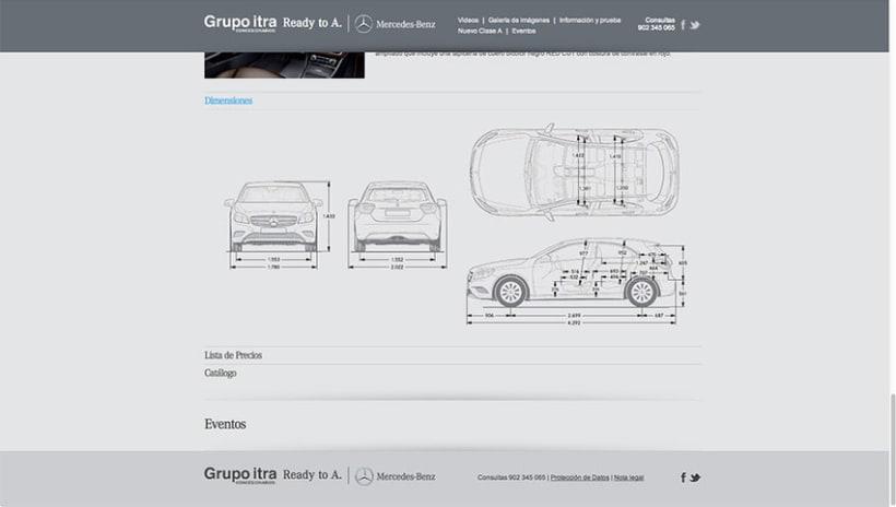 Landing Page - Nuevo Clase A - Mercedes Benz 3