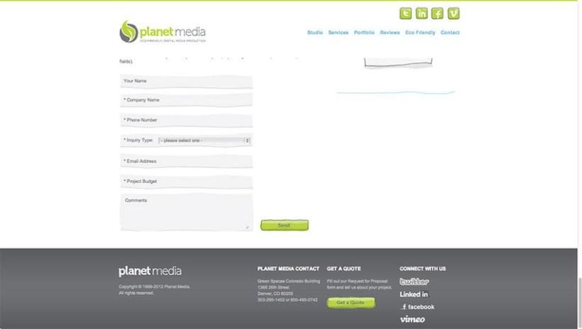 Sitio Web Planet Media 3