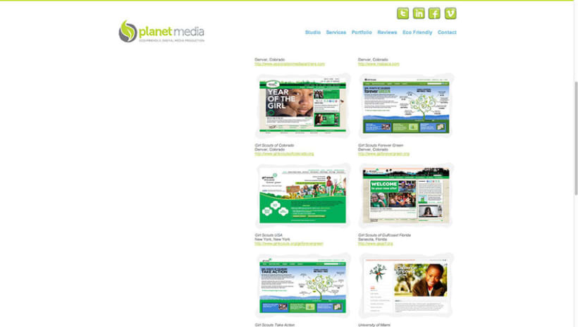 Sitio Web Planet Media 2