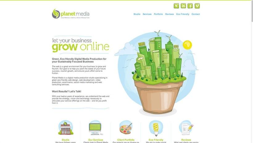 Sitio Web Planet Media 1