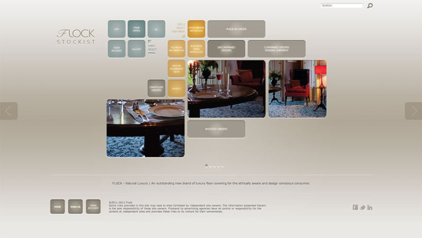 Sitio Web Flock Natural Luxury 2