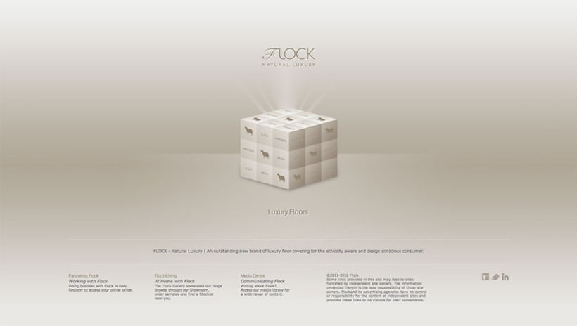 Sitio Web Flock Natural Luxury 1