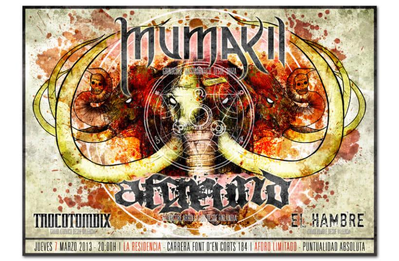 MUMAKIL + AFGRUND + TROCOTOMBIX + EL HAMBRE | poster 1