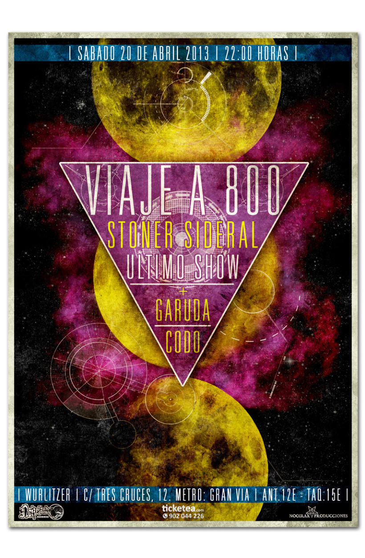 VIAJE A 800 + GARUDA + CODO | poster 1