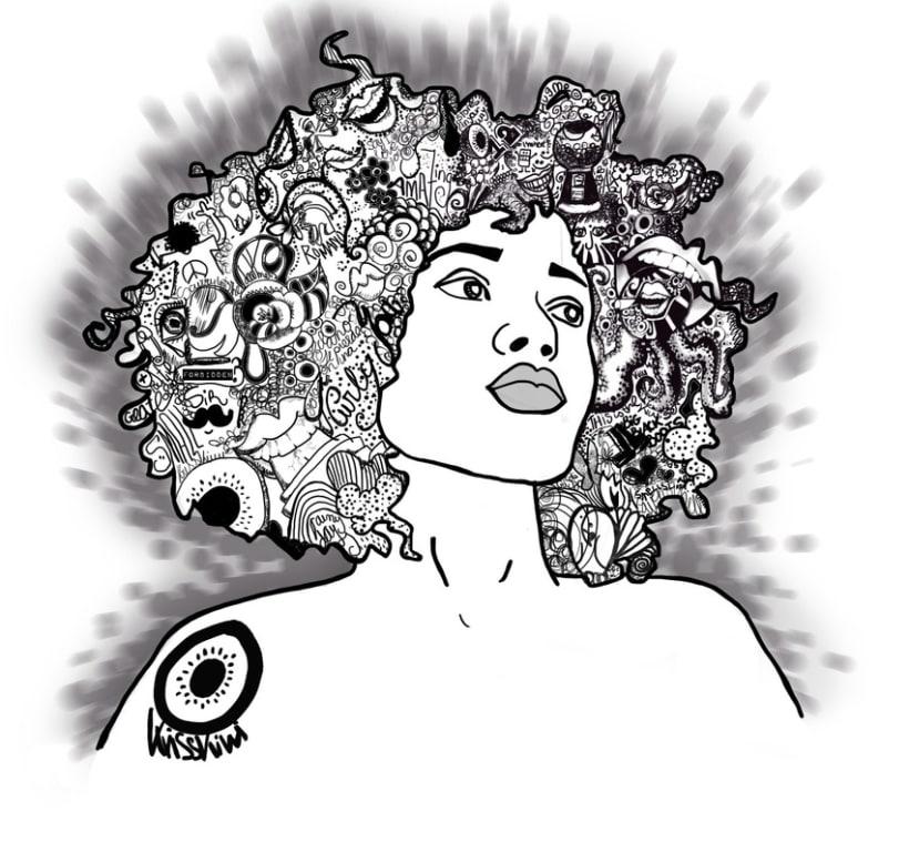 Afro Black Woman 2