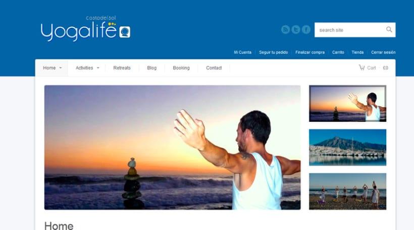 Diseño y Desarrollo web YOGALIFE COSTA DEL SOL 1