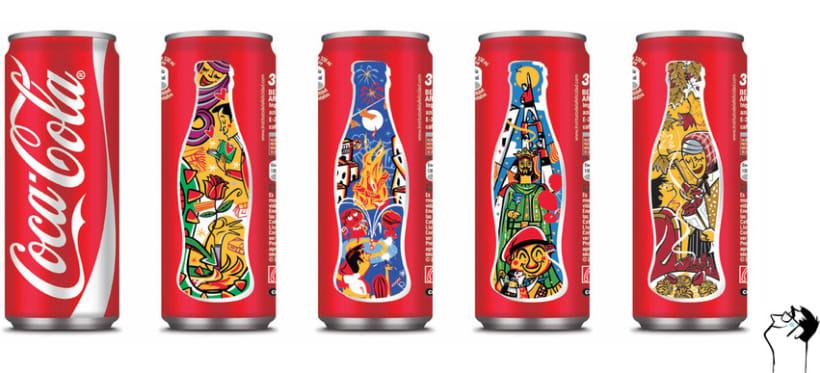 Diseño latas de Coca Cola. 3