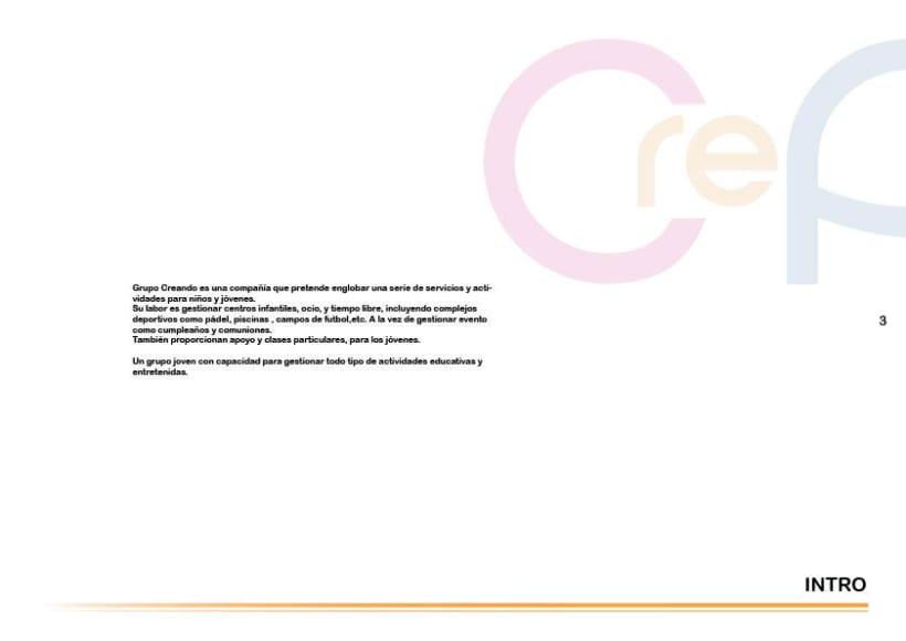 Manual de identidad Grupo Creando 3
