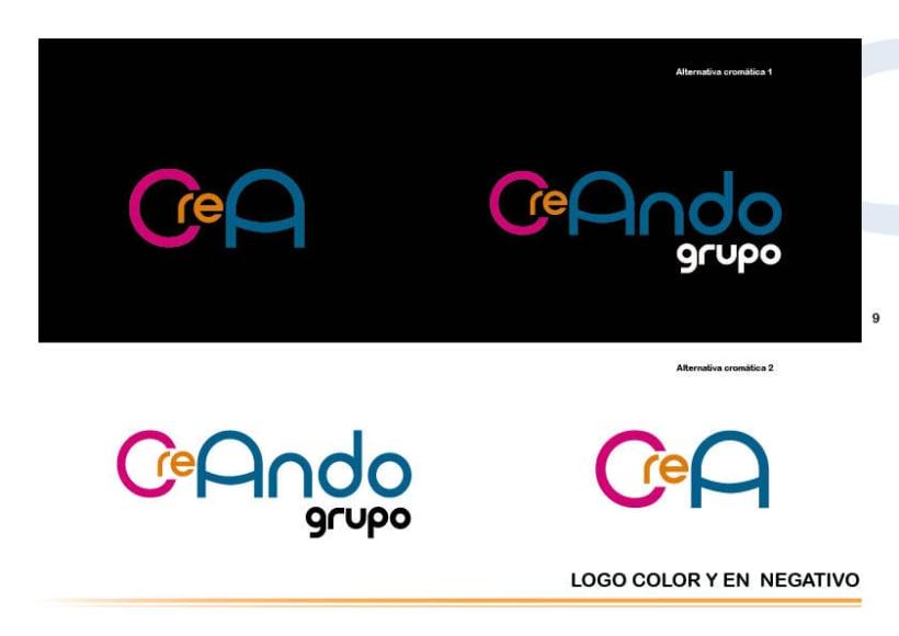 Manual de identidad Grupo Creando 6
