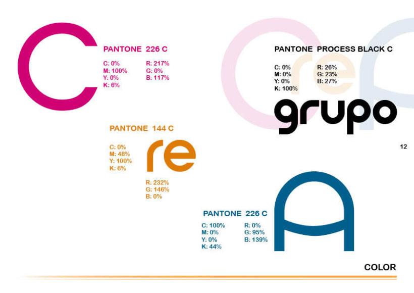 Manual de identidad Grupo Creando 7