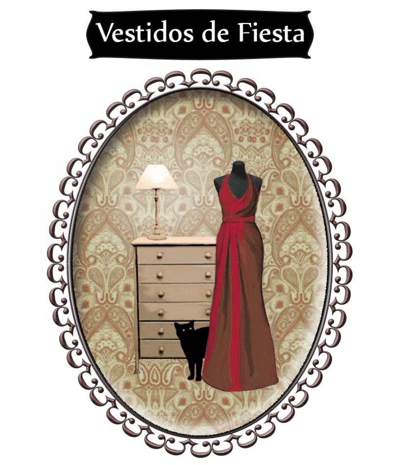 "Branding, Blog Design and Vintage Illustrations ""Los Vestidos de Laura"" 5"