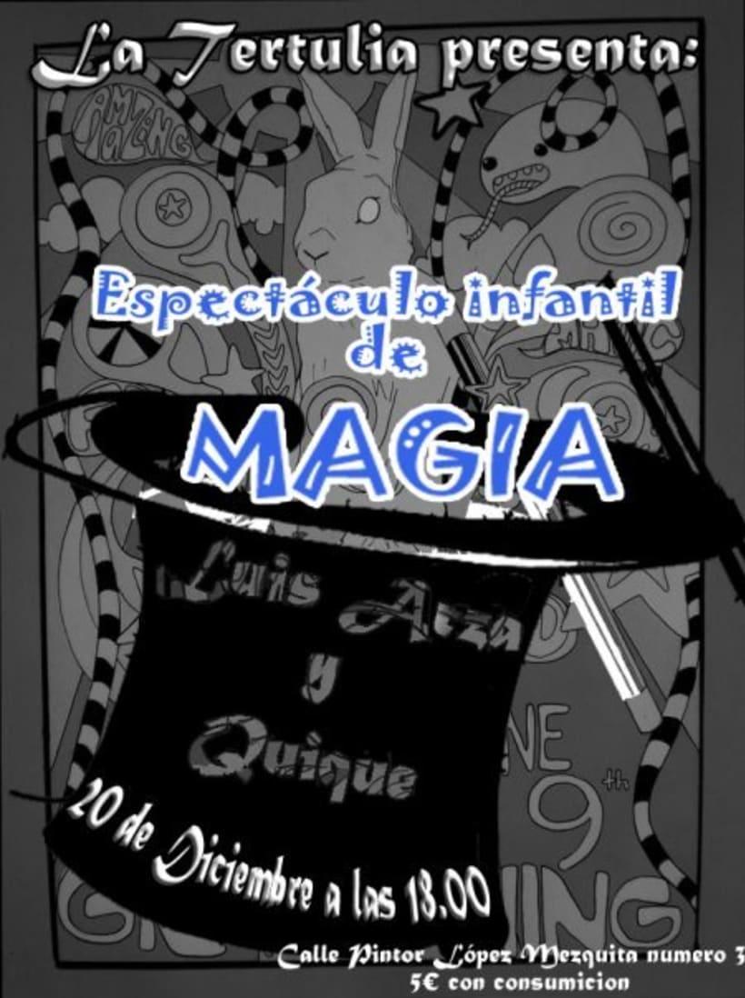 Cartelería - Espectáculo Magia 1
