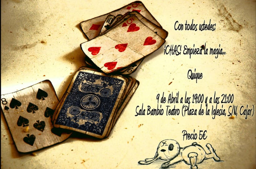 Cartelería - Espectáculo Magia con Quique 1
