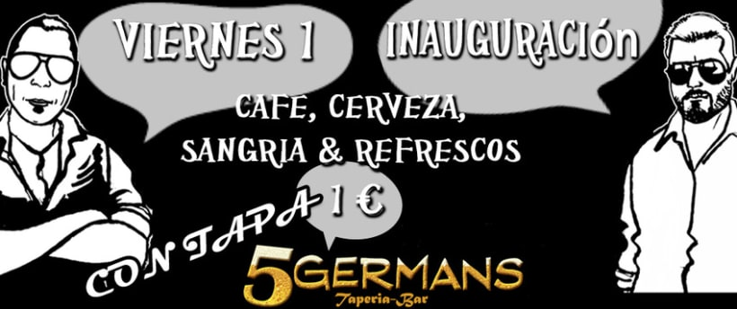 Flyers - Bar 5 Germans 1